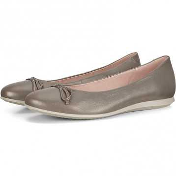 新低422.68元美国直邮!2020年新款:ECCO 爱步 触感2.0 女士真皮平底芭蕾鞋