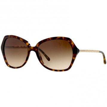 新低825.17元美国直邮!Burberry 巴宝莉 BE4193 女式玳瑁框金属太阳眼镜