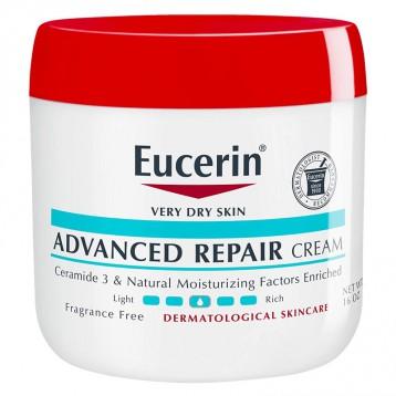 63.84美国直邮!Eucerin 优色林 天然舒缓密集修复保湿霜 454g