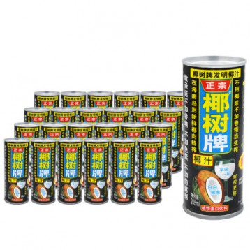 无色素、0防腐剂:245mlx24罐 椰树 正宗椰树牌椰子汁饮料 券后84元包邮