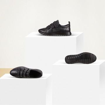 ECCO 爱步 FLEXURE随溢系列 女士魔术贴真皮运动鞋 亚马逊海外购