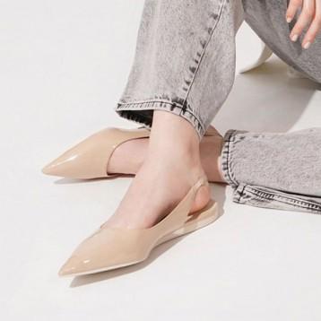 229元包邮!CHARLES&KEITH 2020 春夏新品 女士休闲尖头平跟凉鞋女(多色)