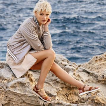 2020夏季新款,GEOX 健乐士 D Hiver a 女士平底露趾凉鞋