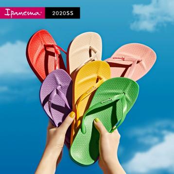 巴西进口,ipanema 依帕内玛 2020新款女士彩虹阿娜特人字拖沙滩鞋