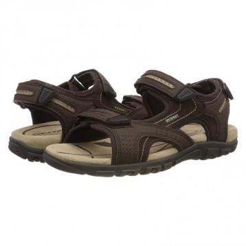 GEOX 健乐士  Uomo Strada U8224D男士露趾沙滩凉鞋 亚马逊海外购