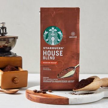 188.71元德国直邮!STARBUCKS 星巴克 House Blend 中度烘焙咖啡粉 6 x 200g