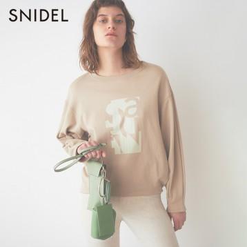 降¥134新低!Snidel 女士logo落肩泡泡袖圆领卫衣SWCT201104