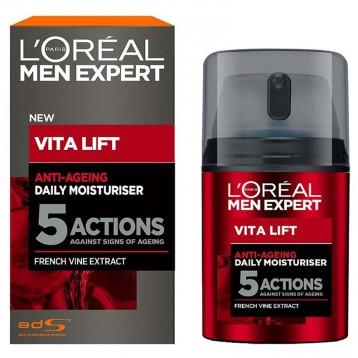 54.65元英国直邮!L'Oréal Paris 欧莱雅 Vita Lift 5 男士锐能抗皱紧致护肤多效霜 50ml