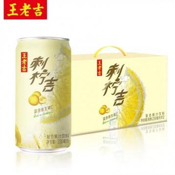 """49元包邮【新品】1罐=9个柠檬的""""强劲电量"""":王老吉 刺柠吉果汁饮料 230ml*12罐"""