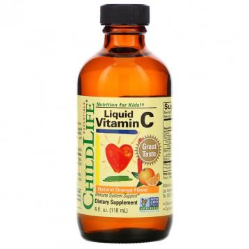 48.23元/瓶包税美国直邮!ChildLife Essentials 液体维生素C 天然橙味118.5ml