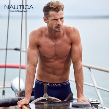 99元包邮!Nautica 诺帝卡 50S奥地利兰精莫代尔冰丝平角内裤3条装