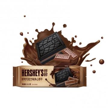 12元拍2包!好时(Hershey's)阳光黑可可系列 巧克力夹心饼干 112g