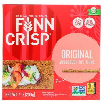 21.24元包税!健身口粮:Finn Crisp 酵母黑麦薄脆饼 原味 7 盎司(200 克)