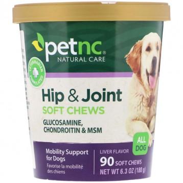 63.11元/盒包税!petnc NATURAL CARE 宠物天然护理 臀部和关节补剂 狗狗专用软骨素90粒软糖