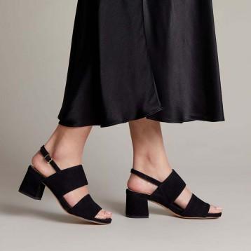 2020夏新款,Clarks 其乐 Sheer 55 Sling 女士复古粗高跟凉鞋 多尺码