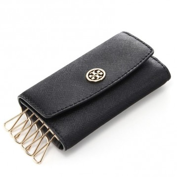 $64.99美金!TORY BURCH 汤丽柏琦 Black Robinson Foldable Key Case 钥匙包