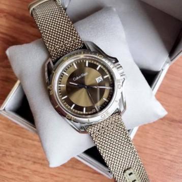 $59.99美金!CALVIN KLEIN Dial Men's Nylon Watch 编织表带石英表(五色)