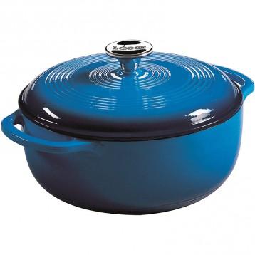 Lodge 洛奇 EC4D33 搪瓷家用铸铁锅 加勒比蓝色 4.5升 亚马逊海外购