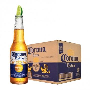 158元包邮!Corona 科罗娜啤酒330ml*24瓶箱装 墨西哥特级风味