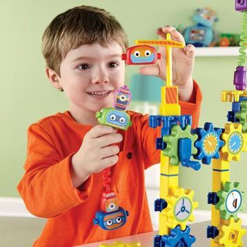 Learning Resources 机器人工厂齿轮积木拼插玩具套装 亚马逊海外购亚马逊海外购