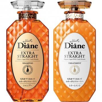 123.89元日本直邮【直发专用】Moist Diane 黛丝恩 Prefect Beauty Extra Straight 洗发水&护发素套装 450ml×2
