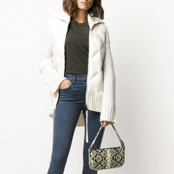 【新季】Moncler 绗缝针织边饰 羽绒夹克 6630元包税免直邮
