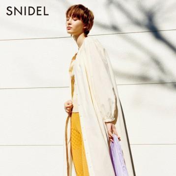 SNIDEL SWFO201149 气质纯色单排扣侧叉衬衫连衣裙外套 亚马逊海外购