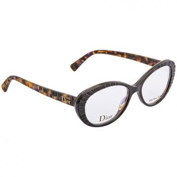 $79.99美金!DIOR 迪奥 Brown Havana Ladies Eyeglasses 光学眼镜框 框架镜