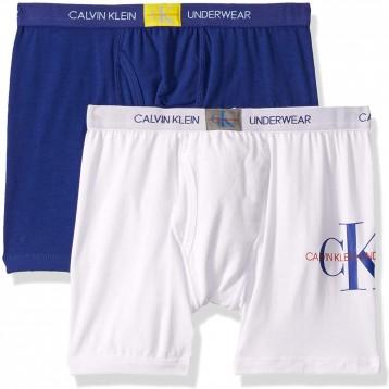 76.68元美国直邮!CALVIN KLEIN 青少年纯棉平角内裤 2件装(4-18岁多尺码/多色)