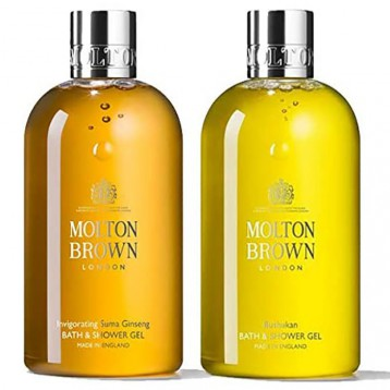 205.55元英國直郵!Molton Brown 摩頓布朗 清新柑橘+活力人參 香氛沐浴露300ml*2瓶裝禮盒