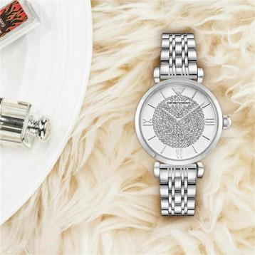 1069元包邮包税!ARMANI/阿玛尼 满天星时尚优雅镶钻石英表女表(京东同款2868元)
