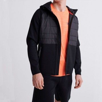 $59.23美金!Superdry 极度干燥 Men's Gym-tech Hybrid Jacket 连帽运动夹克
