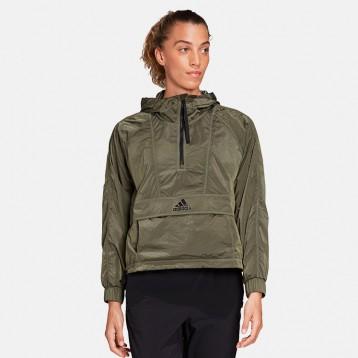 限码好价:adidas 阿迪达斯 W Cropped W.rdy 连帽夹克运动外套 亚马逊海外购