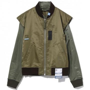 2519元包邮【日本设计师品牌】Mihara Yasuhiro 拼接设计仿两件式飞行夹克