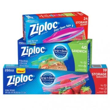 【双链更紧实】美国进口Ziploc密保诺 食品密封袋 大中小号组合装83只装