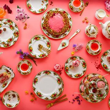 Royal Albert 皇家阿爾伯特 老鎮玫瑰 骨瓷咖啡杯碟茶盤茶具九件套 亞馬遜海外購