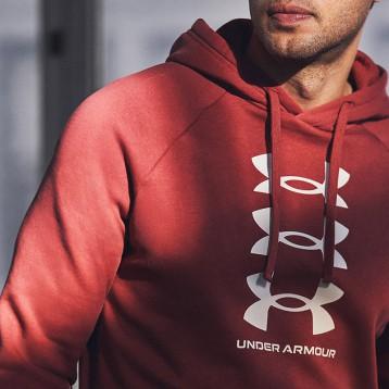 399元包邮【新品】UA安德玛 Rival Multilogo 男士抓绒连帽上衣(三色)