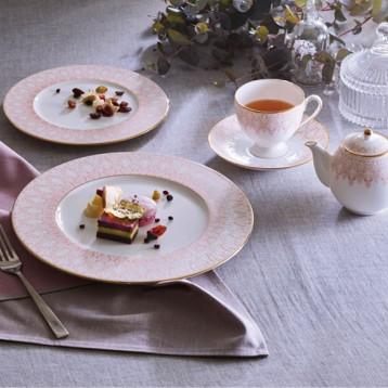 NARUMI 鸣海 AURORA 奥罗拉 双人骨瓷咖啡杯碟套装 亚马逊海外购