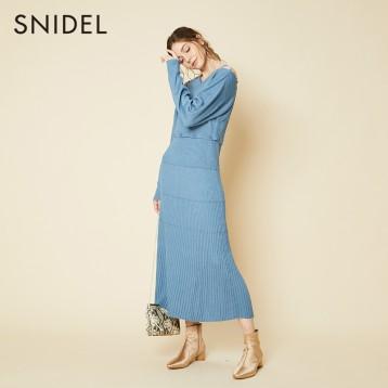 SNIDEL SWNO201056 多纽扣设计针织连衣裙  亚马逊海外购