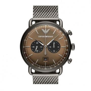 1269元包邮包税【新款】Armani 阿玛尼手表 男士动感时尚编织钢带石英表 AR11141