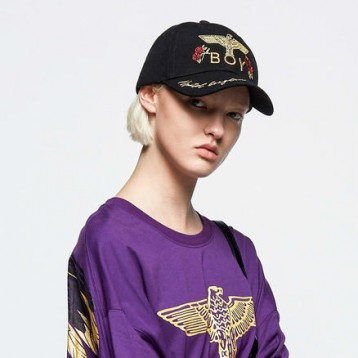 免费韩国直邮【韩淘】BOY LONDON韩国飞鹰女士棒球帽 B91CP1007U