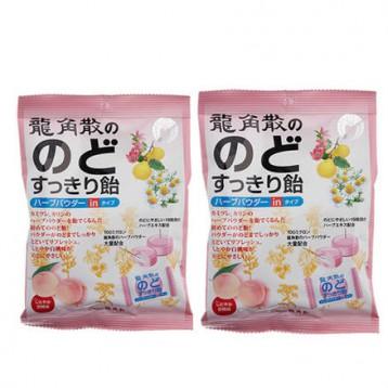 69元包邮包税!日本Ryukakusan 龙角散 化痰止咳润喉糖 水蜜桃味 80g*2包