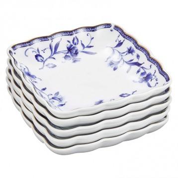 NARUMI 鸣海 12cm 陶瓷方盘5件套亚马逊海外购