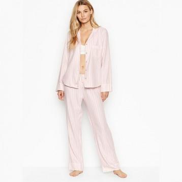 $24.99美金!VICTORIA'S SECRET 维密 Flannel PJ Set 法兰绒长袖睡衣套装