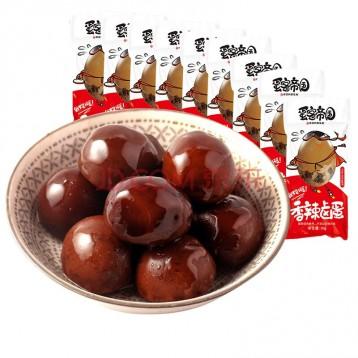 24.90元包邮!百瑞福 无壳鹌鹑蛋五香卤蛋 90颗/30袋
