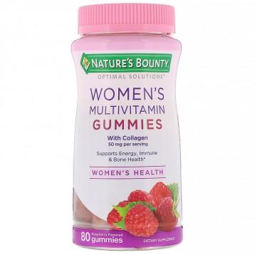 58.50元包税直邮!Nature's Bounty 自然之宝 Optimal Solutions女性复合维生素软糖 覆盆子味80粒