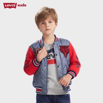 219元包邮!Levi's 李维斯复古棒球夹克款牛仔棉服(105-165cm)