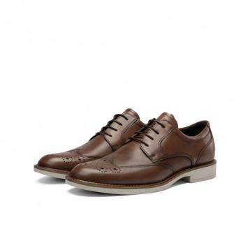 ECCO 爱步 Biarritz里兹 雕花真皮商务男正装皮鞋 630344