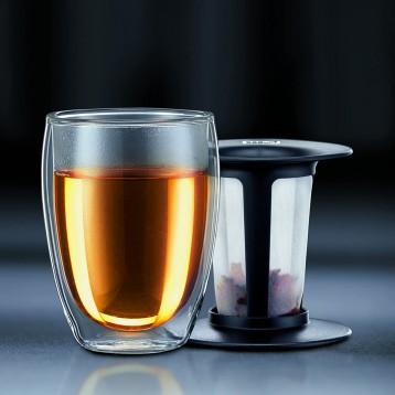 127.31元美国直邮!Bodum 12盎司双层玻璃泡茶杯茶水分离杯(约350ml)