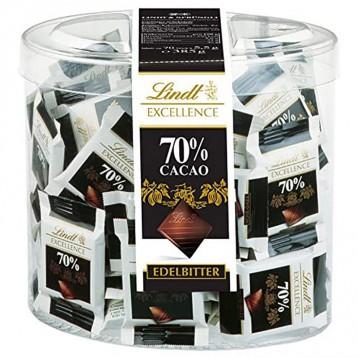 115.59元德国直邮!Lindt 瑞士莲 Excellence 70%黑巧克力迷你装385g